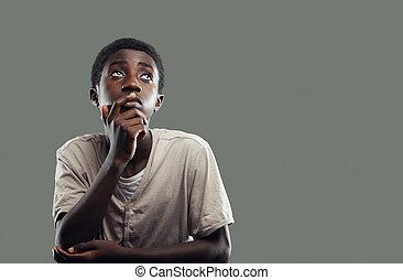男孩, african