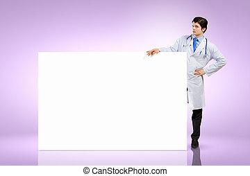 男性の医者, ∥で∥, 旗