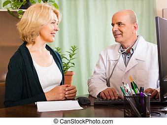 男性的醫生, 由于, 女性, 病人