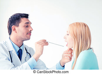 男性的醫生, 由于, 病人