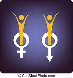 男性, そして, 女性の 健康