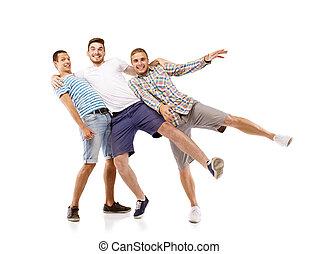 男性, グループ, 若い