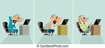 男性, コンピュータ, 3