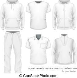 男性, スポーツ, ウエア, collection.