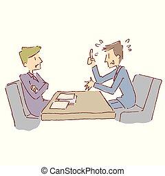 男性, 交渉