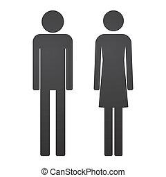 男性, 女性, pictogram