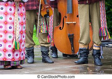 男性, 服を着せられる, リトアニア人, 伝統的である, 衣服, 女性