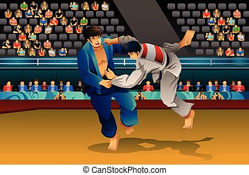 男性, 柔道, 競争
