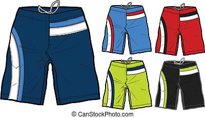 男性, 水泳, boardshorts