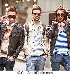 男性, 若い, 3, ファッション