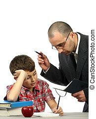 男生徒, そして, 教師