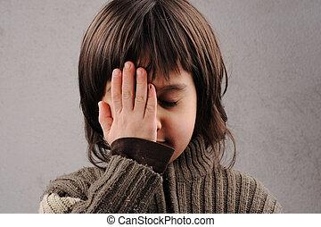 男生徒, シリーズ, の, 利発, 子供, 6-7年, 古い, ∥で∥, 顔の 表現