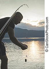 男釣り, rod.