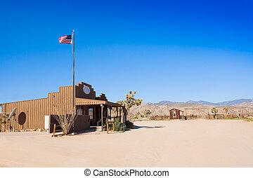 町, オフィス, 私達, 開拓者, 西部, ポスト