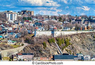 町, カナダ, 都市, levis, ケベック, 光景