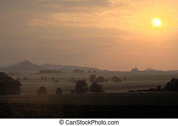 町, チェコ, valdice, 共和国, jicin, 光景, vilage, すてきである