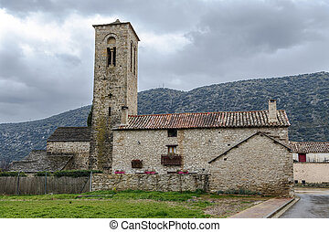 町, ロサリオ, triste, del, virgen, 教会, 田園, スペイン