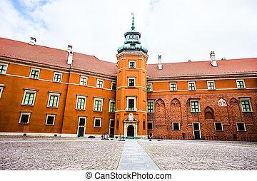 町, ワルシャワ, 古い, ポーランド, 皇族, 城