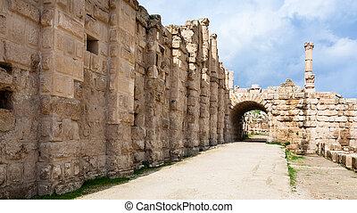 町, 区域, zeus, jerash, (gerasa), 寺院