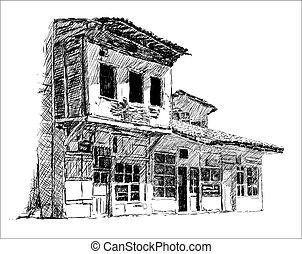 町, 古い