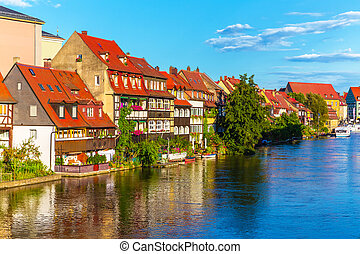 町, 古い, ドイツ, bamberg