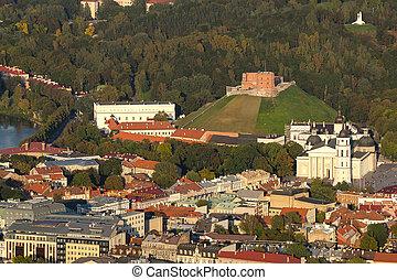 町, 古い, リスアニア, vilnius