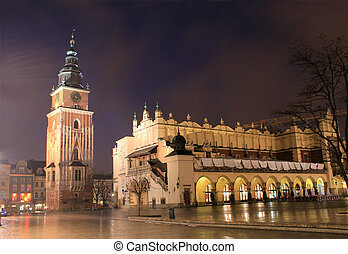 町, 古い, krakow