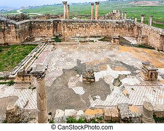 町, 古代, キリスト教徒, 台なし, jerash, 教会