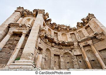 町, 古代, 寺院, artemis, jerash