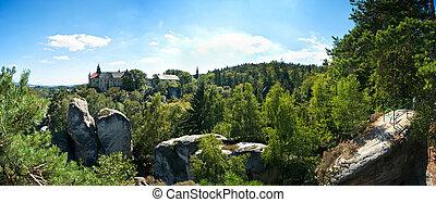 町, 岩, ボヘミアン, パラダイス