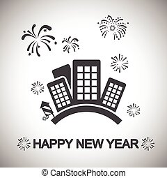 町, 新年おめでとう