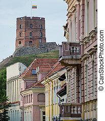 町, 通り, 古い, vilnius
