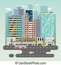 町, 都市, 列車, 自動車, 電池, 太陽, ∥あるいは∥