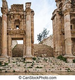 町, artemis, 寺院, (gerasa), jerash, 出入口