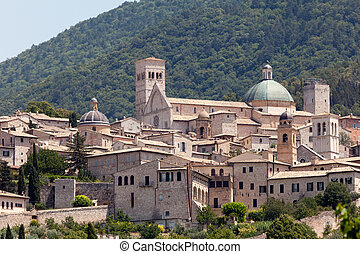 町, assisi, イタリア, 中世