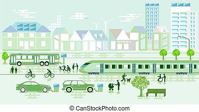 町, eco-power