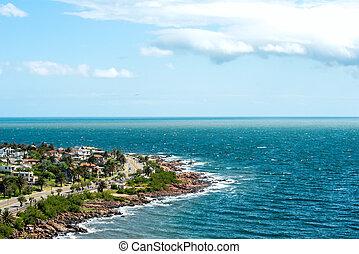 町, francisco, san, ウルグアイ, 漁師, 海岸, 場所, piriapolis