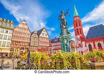 町, frankfurt, 古い