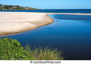 町, punta, ウルグアイ, colorada, 海岸, 浜, piriapolis