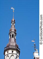 町, spire, tallinn, ホール