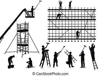画家, 技术工人