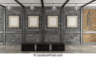 画廊, 屋根裏