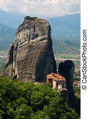 界標, meteora, 修道院, 希臘
