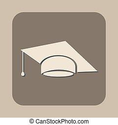 畢業帽子, 矢量, 圖象