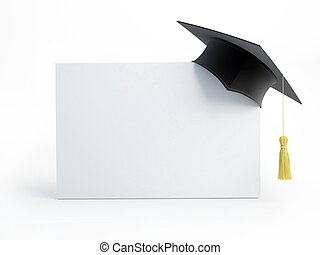 畢業帽子, 空白