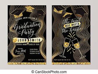 畢業黨, 類別, ......的, 2018, 垂直, 邀請, 卡片