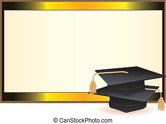 畢業, 卡片, 邀請