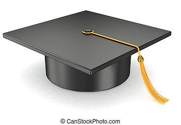畢業, 帽子, 在懷特上, 背景