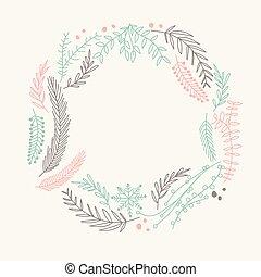 略述, 框架, 花冠, 裝飾品, 多种顏色, 金絲的細工飾品, 環繞, 作品