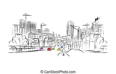 略述, ......的, 交通, 路, 在, 城市, 為, 你, 設計